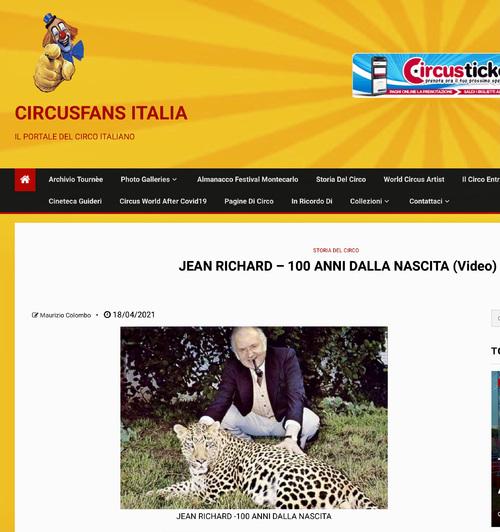hommage des fans de cirque italiens à Jean RICHARD