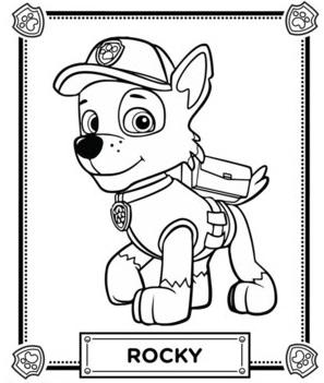 coloriage la pat patrouille jeux puzzle - Pat Patrouille Dessin Anim