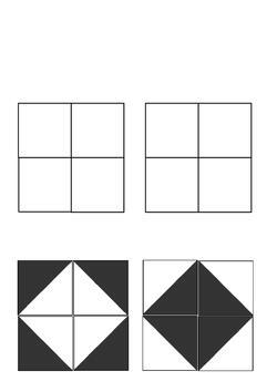les carrés bicolores