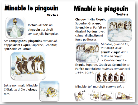 Tapuscrit Minable le pingouin