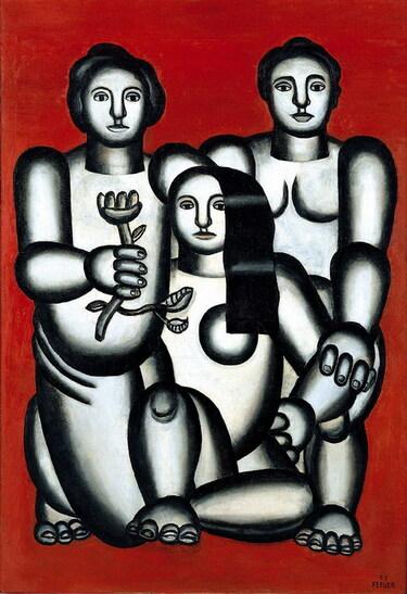13 - 3 femmes en peinture , 20eme siècle