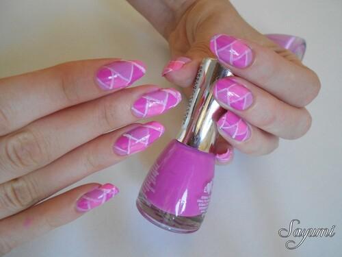 Nail Art Tresse Fuchsia