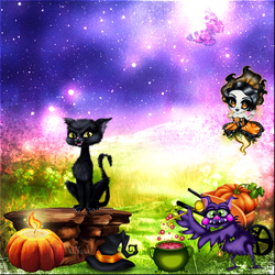 Halloween calendrier chat drôle code inclu