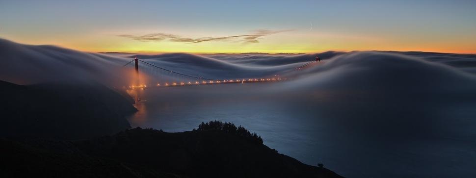 Brouillard et brume illumine des paysages. Belles photo