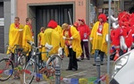 Kostümierte Karnevalisten