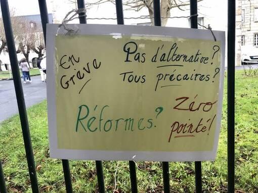 Landerneau. Les élèves du lycée de l'Elorn continuent leur grève contre le nouveau bac (OF.fr-28/01/20-15h35)