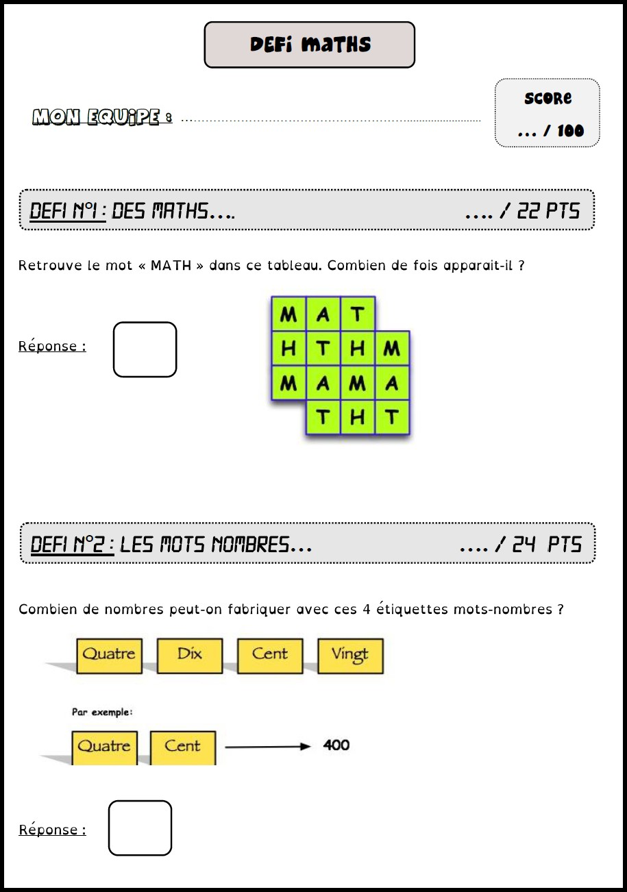 image défi maths 4