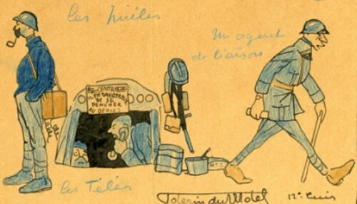 Les silhouettes de guerre croquées par Pierre Poterin du Motel