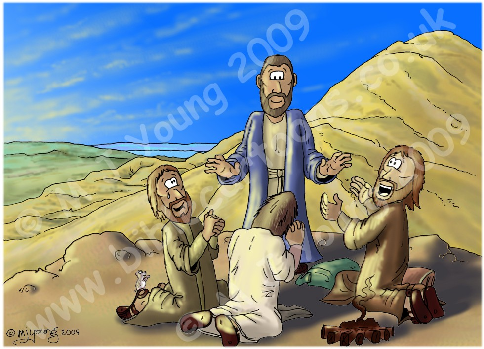 Luke 09 - The Transfig - Scene 06 - Disciples Worship