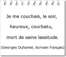 Courbatu / Courbaturé