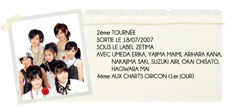 °C-UTE CONCERT TOUR 2007 HARU ~GOLDEN HATSU DATE~