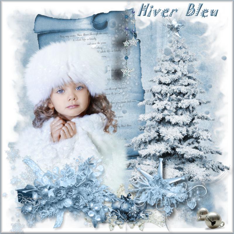 *** Hiver bleu - scrap du 28 Novembre _ sans tuto ***