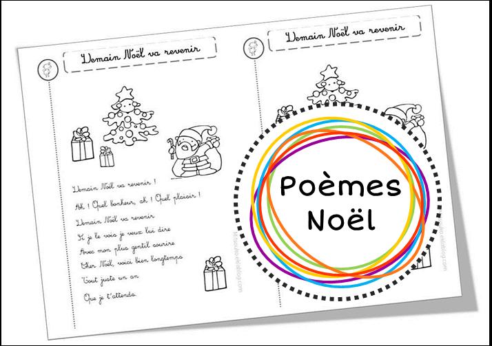 Poèmes Sur Le Père Noël Les Rennes Les Sapins Etc