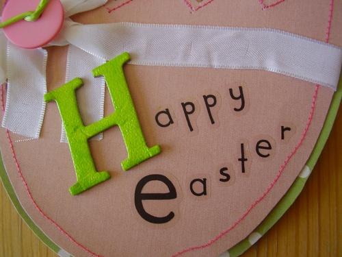 Carte Happy Easter pour les enfants