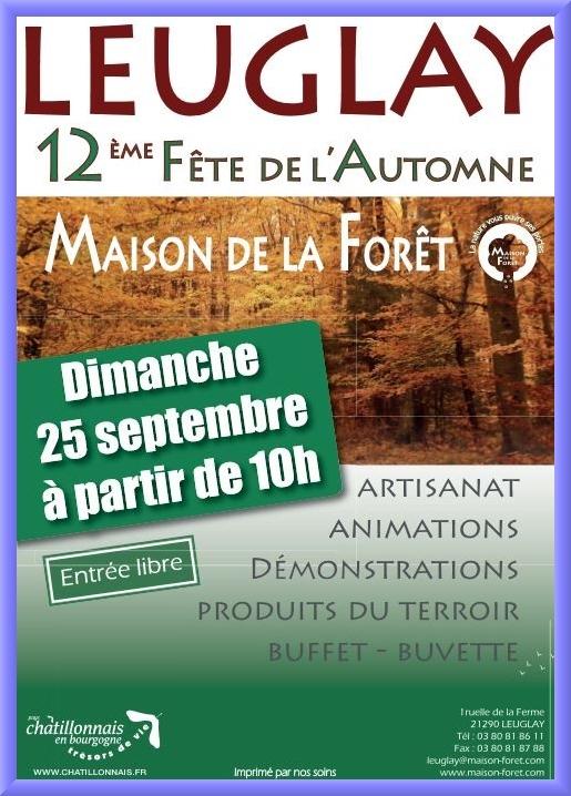 La fête de l'automne aura lieu dimanche 25 septembre....