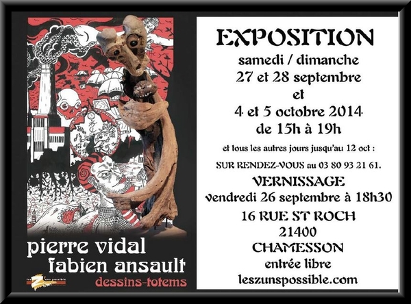Pierre Vidal et Fabien Ansault exposent à la galerie Les Z'uns possible à Chamesson