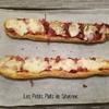 baguette sarment garnie façon pizza
