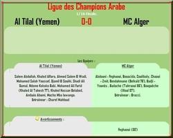 Al Tilal (Yemen) - MC Alger 0-0