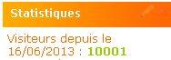 Le 10 000 ème visiteur est atteint !