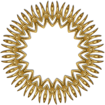 Cadres or série 5, rond ciselé