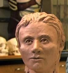 crâne de cristal reconstitution femme européenne