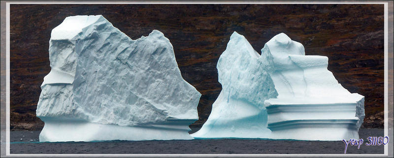 Le paysage est superbe mais la météo ne s'arrange pas, dommage... - Région d'Uummannaq - Groenland