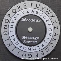 roue à décoder message secretanniversaire agent secret