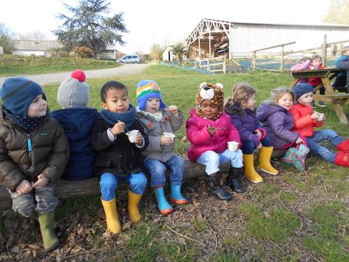 Photos de la sortie dans la ferme de Gwen
