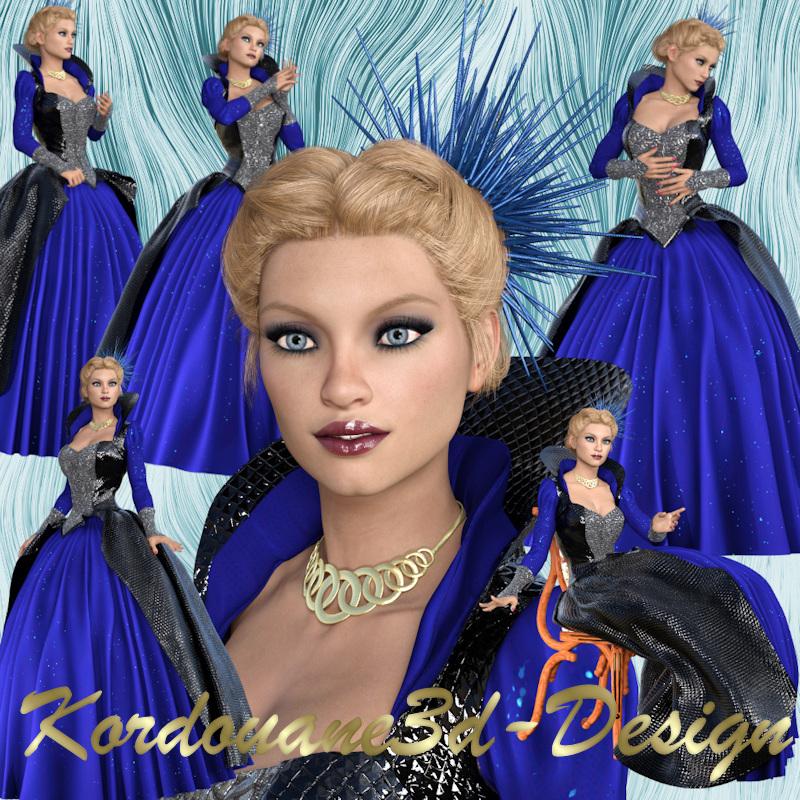 Femme en bleu (tube-render-poser)