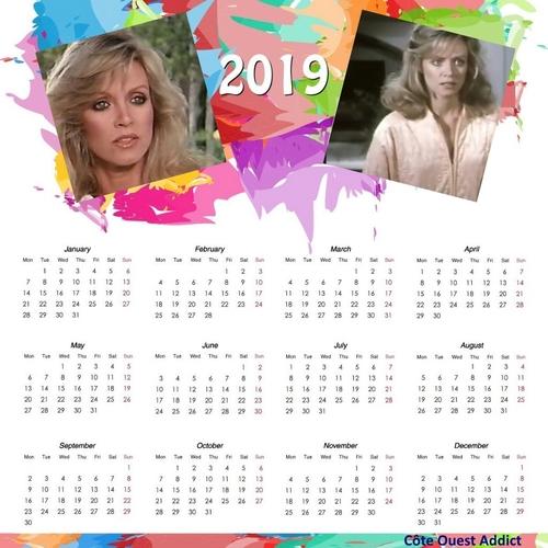 Fin des calendriers en anglais.