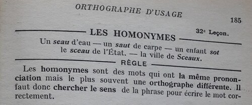 A / Les homonymes