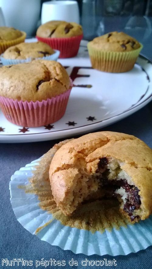 Muffins pépites de chocolat extra moelleux !!!