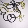 collier alu noir/vert