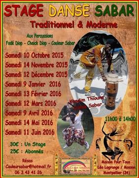 ★ Stages Danse Sabar Traditionnel & Moderne