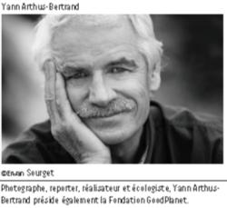 Conférence de Yann Arthus Bertrand sur la biodiversité