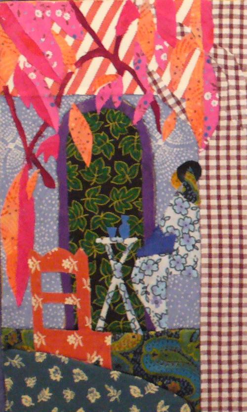 créations en patchwork sur carton