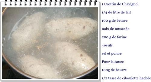 Quenelles au Crottin de Chavignol
