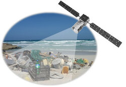 ESA testing detection of floating plastic litter from orbit.