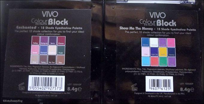 Les palettes 12 fards de vivo tops ou flops (swatchs)