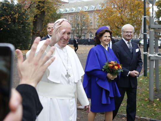 Le pape François en visite en Suède