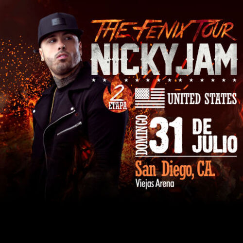 "CONCERT NICKY JAM ""AVE FENIX TOUR USA 2016"""