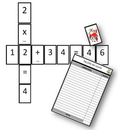 Scralcul - jeu pour travailler les quatre opérations