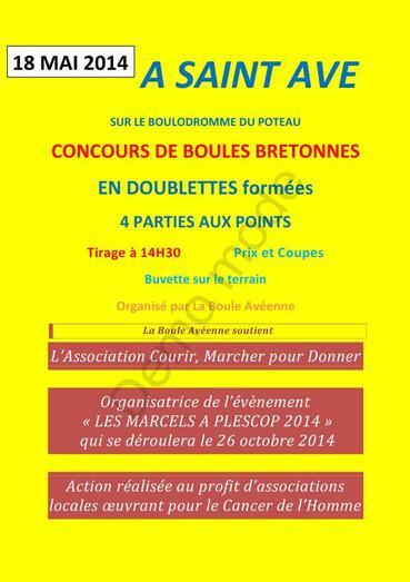 Concours de Boule Bretonne - Dimanche 18 mai 2014