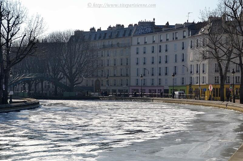 Le Canal Saint-Martin sous la glace - hiver 2012