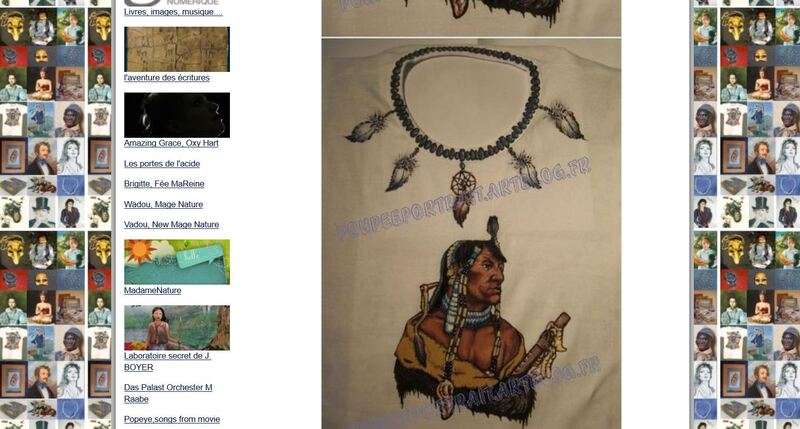 * Article Artblog N°14: Indien Mandan, tee-shirt, étape 2/3, progression des couleurs