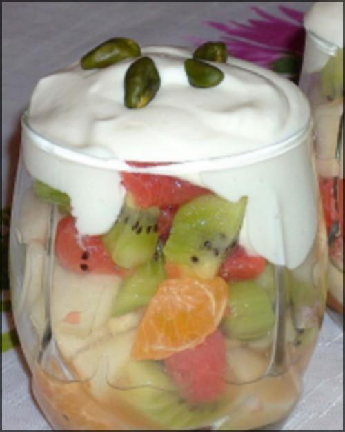 Verrines de fruits d'hiver