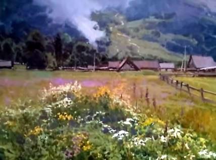 Dessin et peinture - vidéo 2071 : Quand la nature est exprimée à l'huile ou à l'acrylique - peinture sur toile.