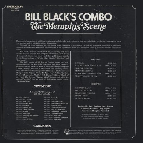 "Bill Black's Combo : Album "" The Memphis Scene "" Mega Records M31-1008 [ US ] en 1971"