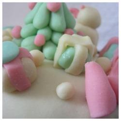 Essai de décor de Noël sur gâteau....