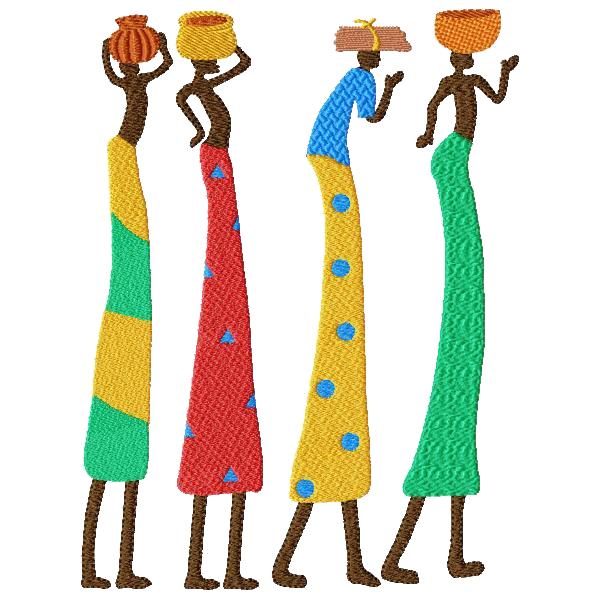 Tubes brodés Afrique